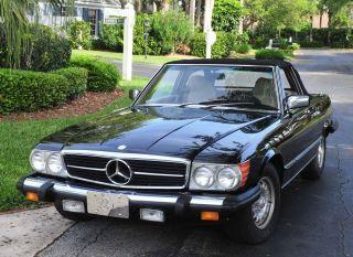 Mercedes Benz 1985 380sl Black Beauty Roadster,  Loaded,  Show Winner photo