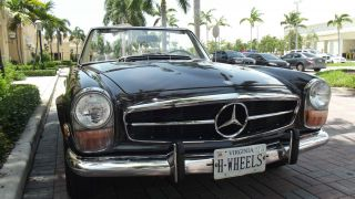 1970 Mercedes 280 Sl Tabacco Brown With Creme Interior.  Two Tops,  Ac. photo