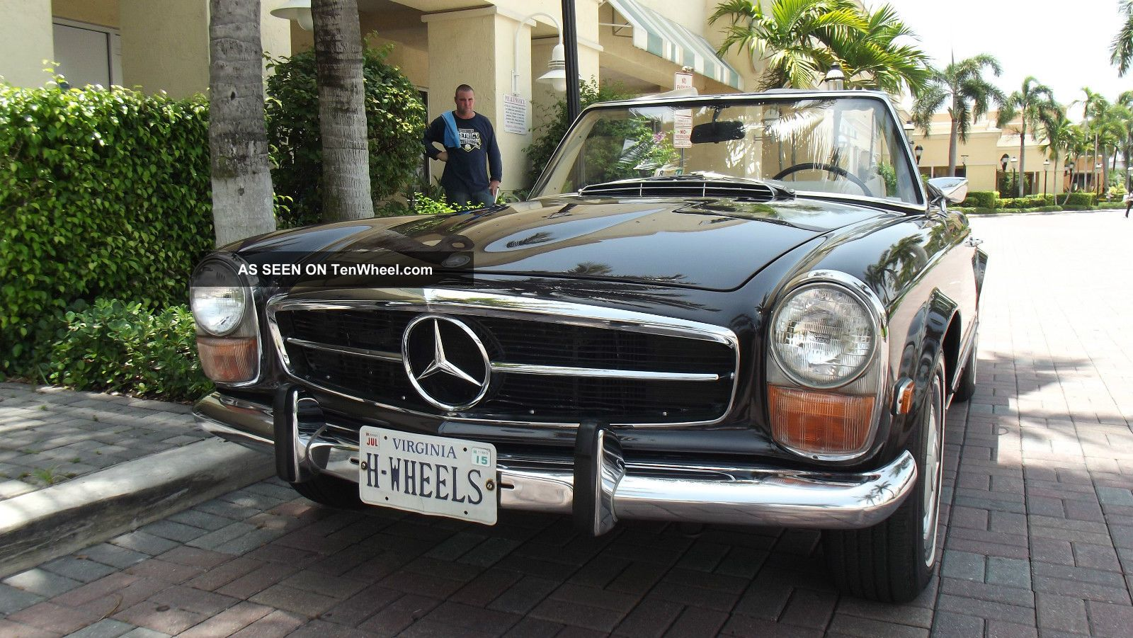 1970 mercedes 280 sl tabacco brown with creme interior two tops ac. Black Bedroom Furniture Sets. Home Design Ideas