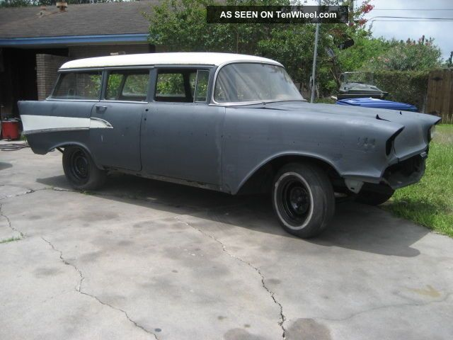 1957 chevy wagon 4 door rolling chassis