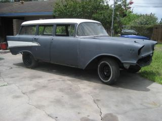1957 Chevy Wagon 4 Door Rolling Chassis photo