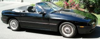 1988 Mazda Rx - 7 Convertible 2 - Door Black With Gray Interior 1.  3l photo