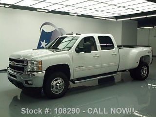 2013 Chevy Silverado 3500hd Ltz 4x4 Crew Diesel Drw 54k Texas Direct Auto photo