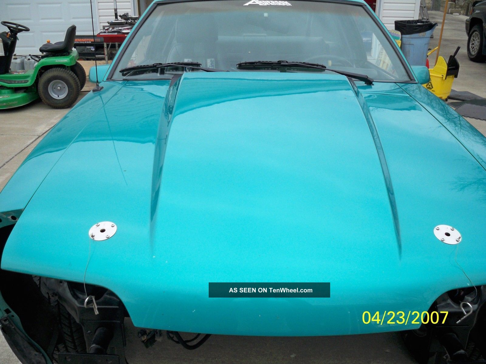 mustang   lx sedan rolling chassis motor