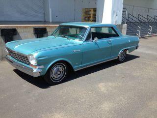 Blk Plate California 1964 Chevrolet Nova,  Azure Aqua,  283v8,  2bbl,  195 Hp photo