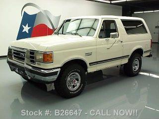 1989 Ford Bronco Xlt 4x4 5.  0l V8 Efi Hardtop Bullguard Texas Direct Auto photo