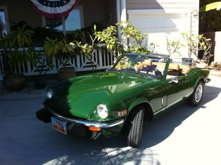 1978 Triumph Spitfire Convertible,  British Racing Green,  Classic Summer Car photo
