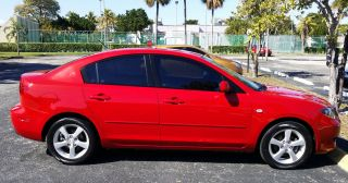 2006 Mazda 3 Red Excellent Manual 5 Speed Mzada3 Seadan Non Smoker photo