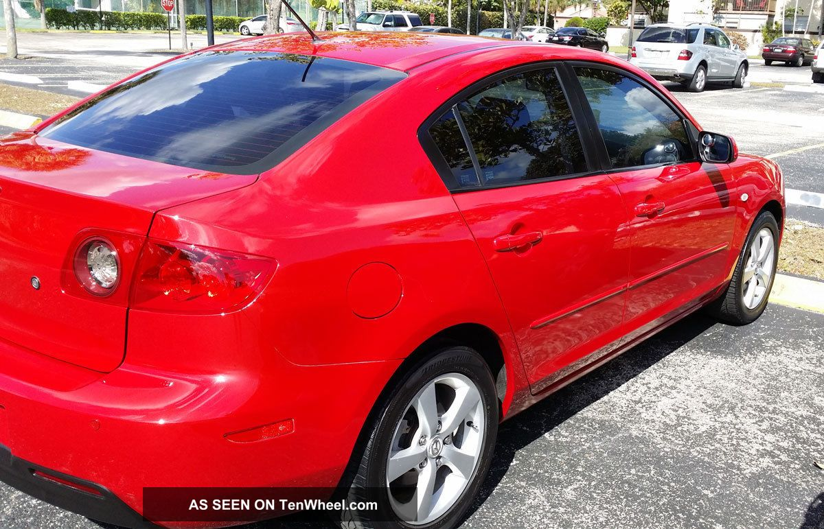 2006 mazda 3 red excellent manual 5 speed mzada3 seadan. Black Bedroom Furniture Sets. Home Design Ideas