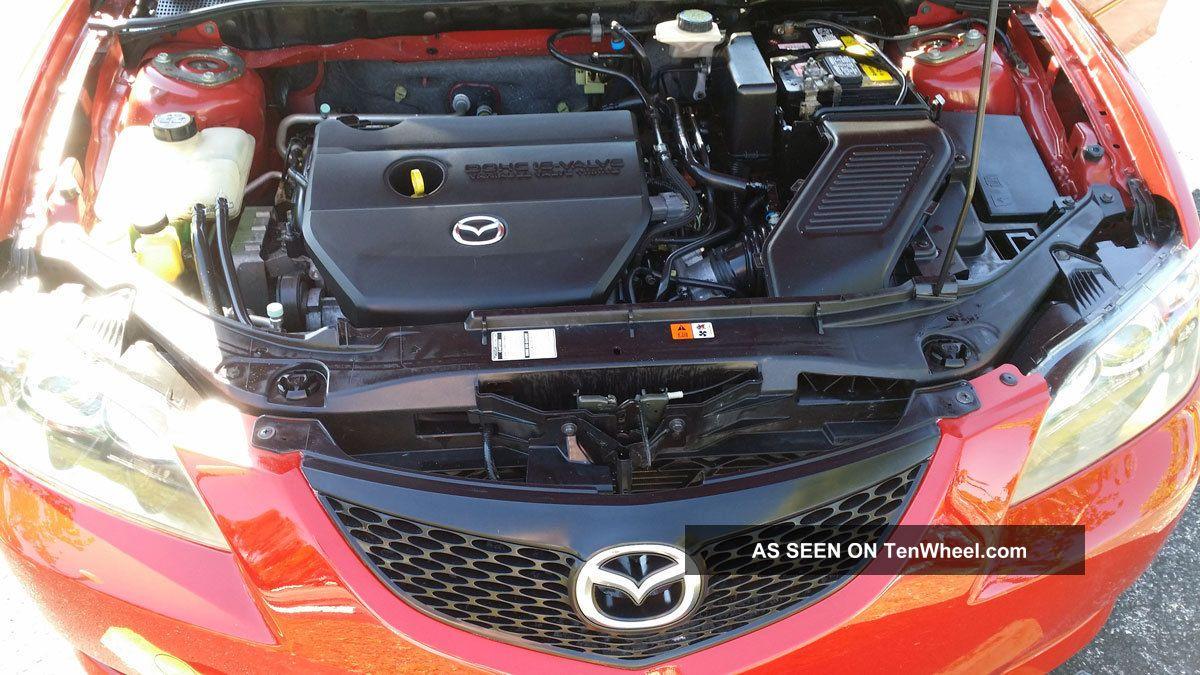 2006 Mazda 3 Red Excellent Manual 5 Speed Mzada3 Seadan Non Smoker Engine Diagram Mazda3 Photo 6