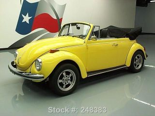 1972 Volkswagen Beetle Classic Cabriolet 1600cc 4speed Texas Direct Auto photo