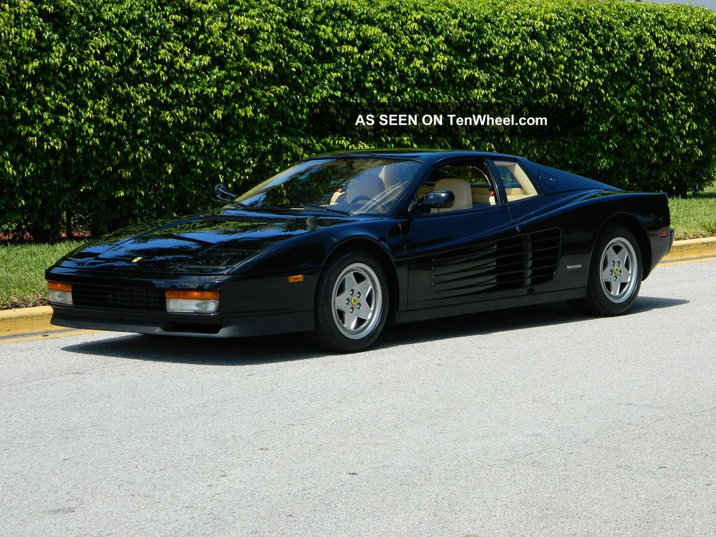 1990 Ferrari Testarossa Nero Black Crema Belts And Clutch Condition Testarossa photo