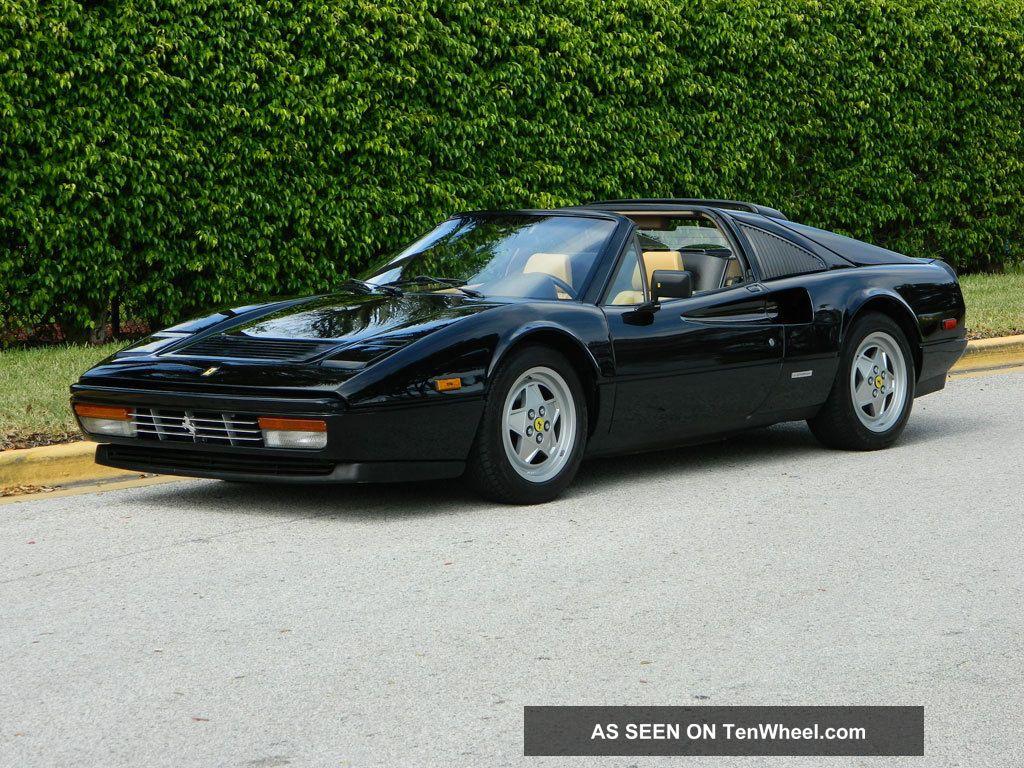 1988 Ferrari 328 Gts Black Nero Beige Tan Absolutely Gorgeous Ice Cold A / C 328 photo