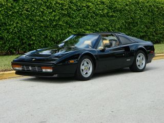 1988 Ferrari 328 Gts Black Nero Beige Tan Absolutely Gorgeous Ice Cold A / C photo