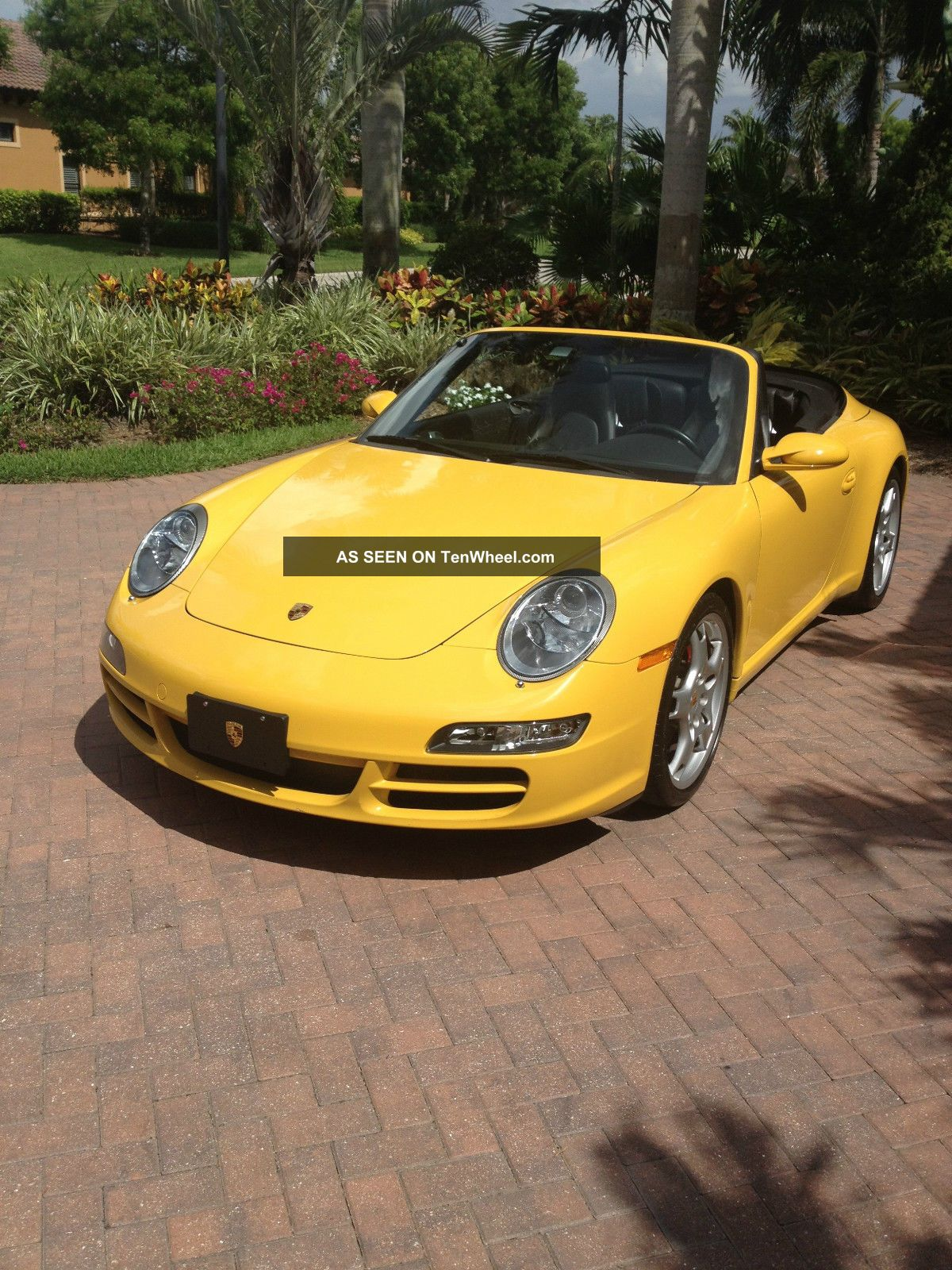 2005 porsche 911 carrera s cabriolet 997 speed yellow. Black Bedroom Furniture Sets. Home Design Ideas