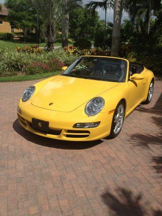 2005 Porsche 911 Carrera S Cabriolet 997,  Speed Yellow photo