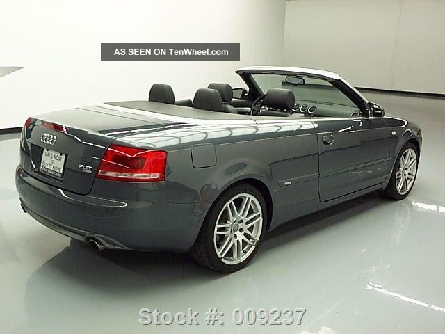 2009 audi a4 2 0t quattro cabriolet awd s line 48k texas direct auto. Black Bedroom Furniture Sets. Home Design Ideas