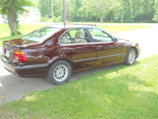 1997 Bmw 528i Excellent Condtion Maroon Exterior With Tan Interior photo