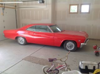 1965 2 Door.  Red With White Interior.  402ci,  4 Speed,  411 Rear Gear. photo