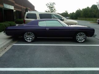 1973 Chevy Impala Custom Coupe.  Candy Purple Paint. photo
