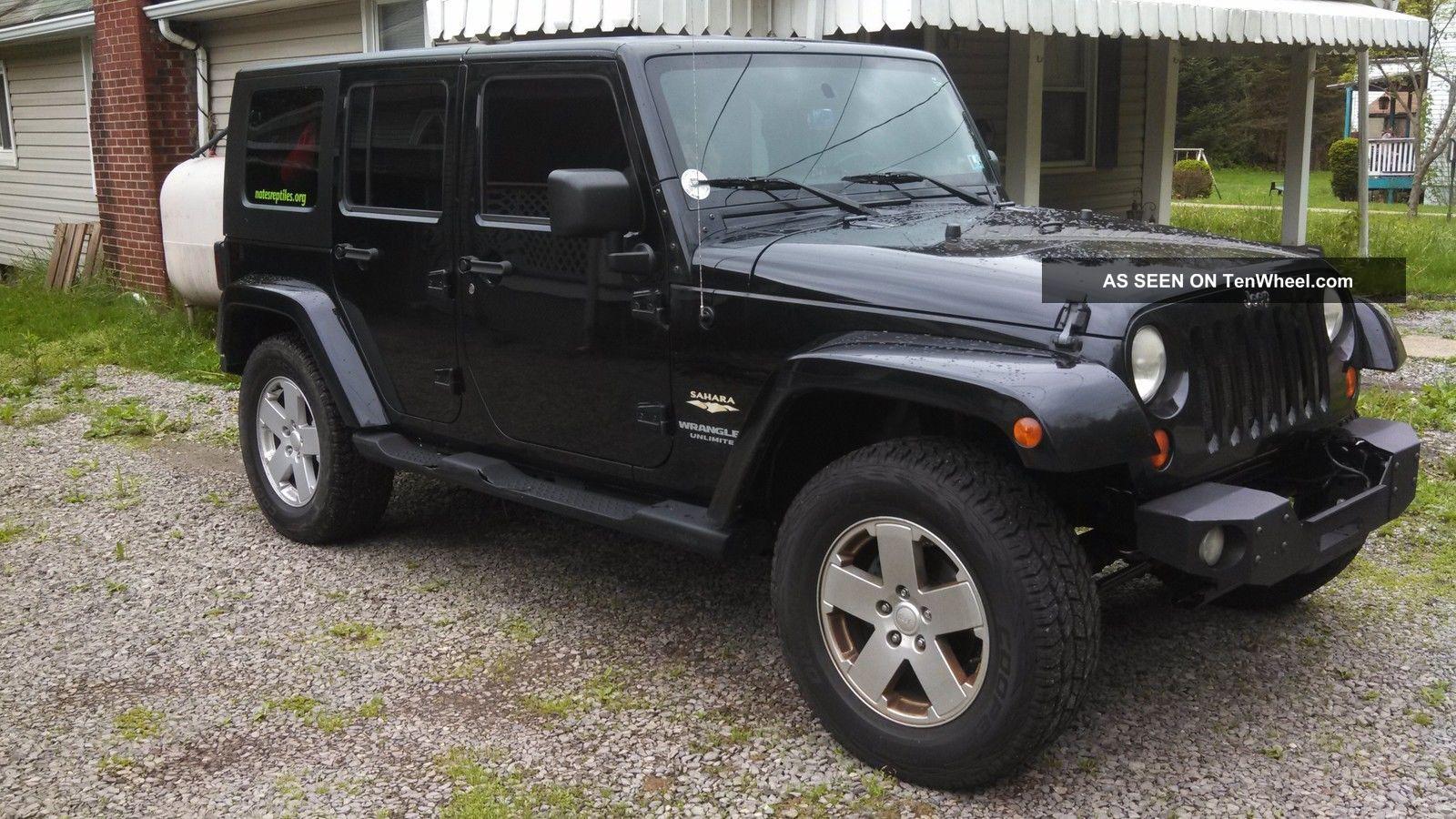 2007 jeep wrangler unlimited sahara sport utility 4 door 3 8l. Black Bedroom Furniture Sets. Home Design Ideas