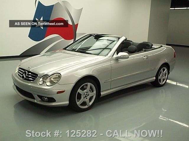 2005 mercedes benz clk500 cabriolet harman kardon 45k texas direct auto. Black Bedroom Furniture Sets. Home Design Ideas