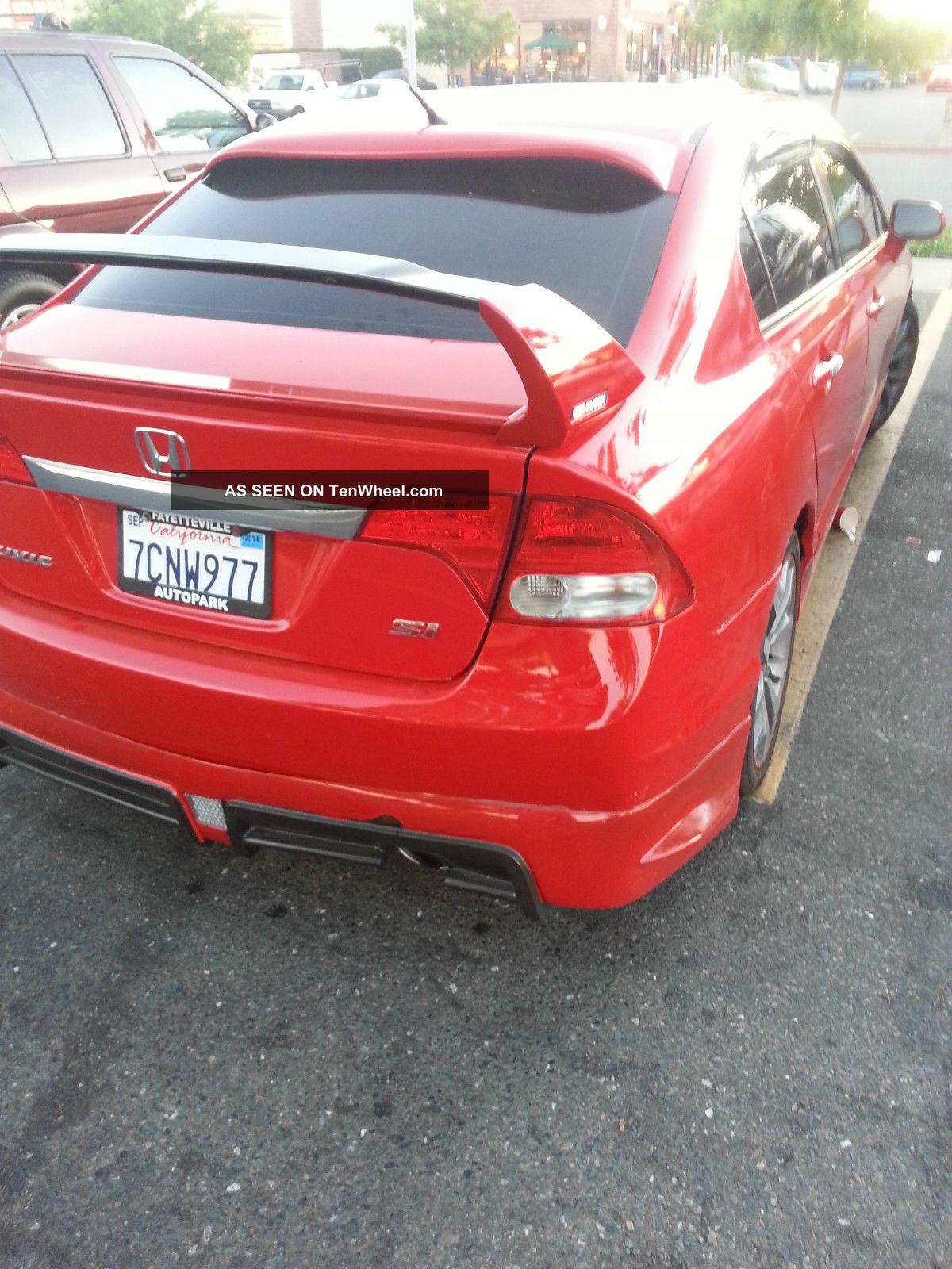 2009 Honda Civic Si Sedan 4 Door 2 0l Mugen Body Kit Look
