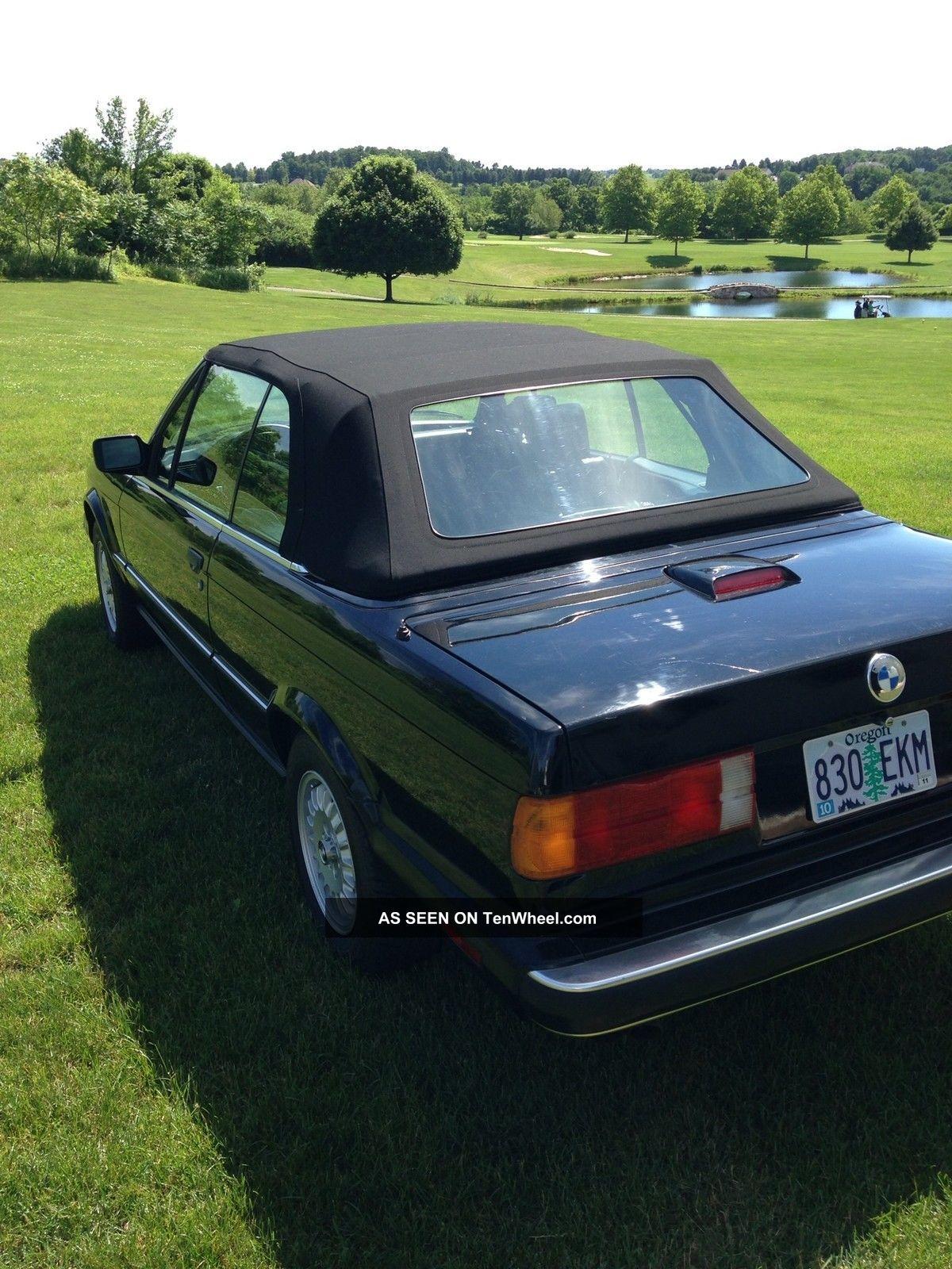 1990 Bmw 325i Convertible Triple Black.