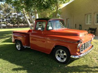 1955 Chevrolet Pickup,  Step Side.  350 V - 8 Engine.  Outstanding And Gorgeous photo