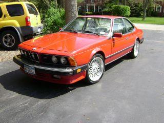 1987 Bmw M6 Cinnabar Red photo