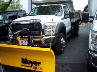 2015 Ford F550 4x4 With 9 ' Stainless Steel Dump Body And 9 ' Plow photo