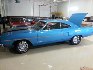 1970 Plymouth Raod Runner,  383 Matching ' S Auto,  B5 Blue,  Rotisserie photo