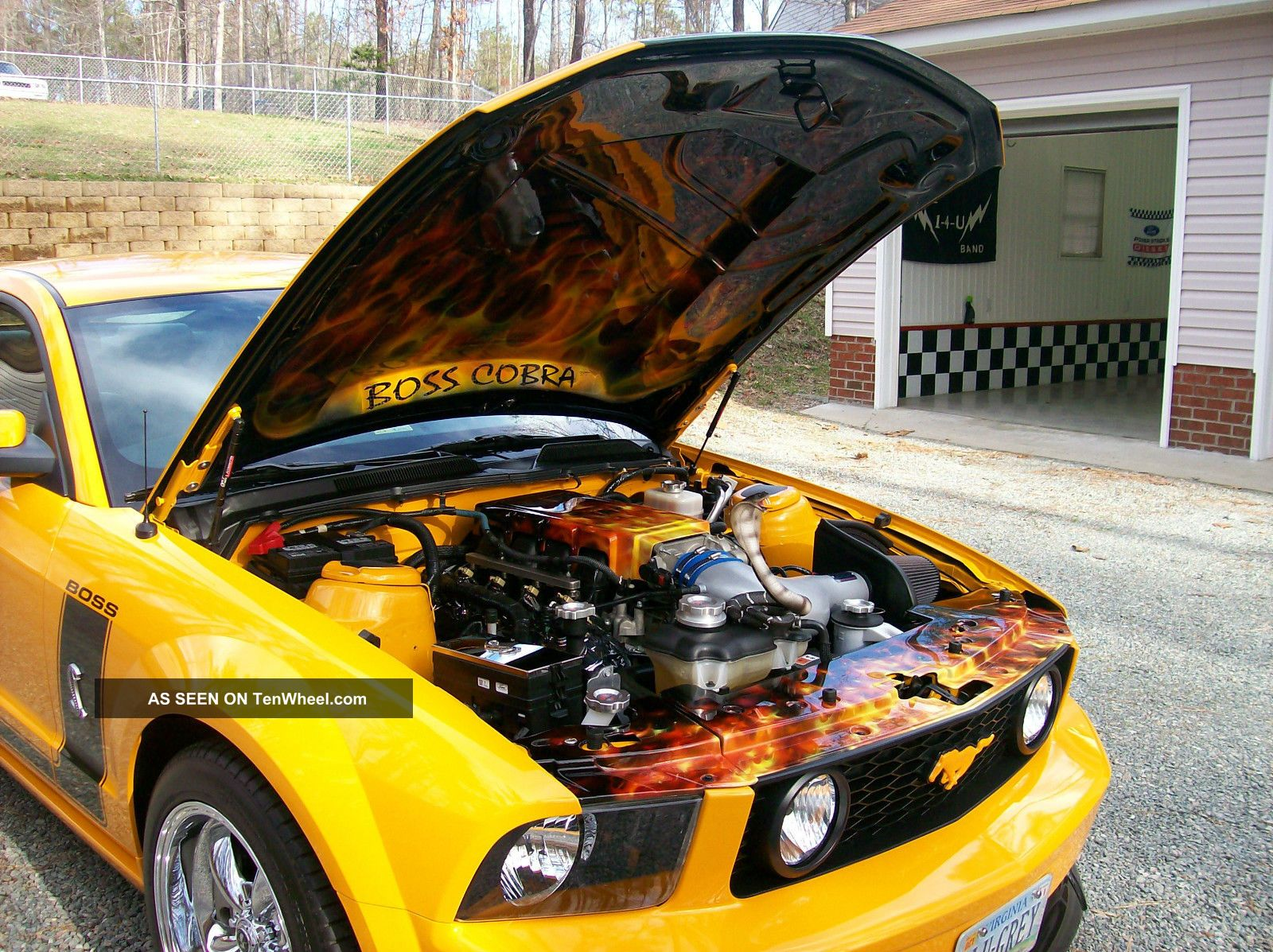2007 Mustang Gt Grabber Orange Custom Air Brushing Under