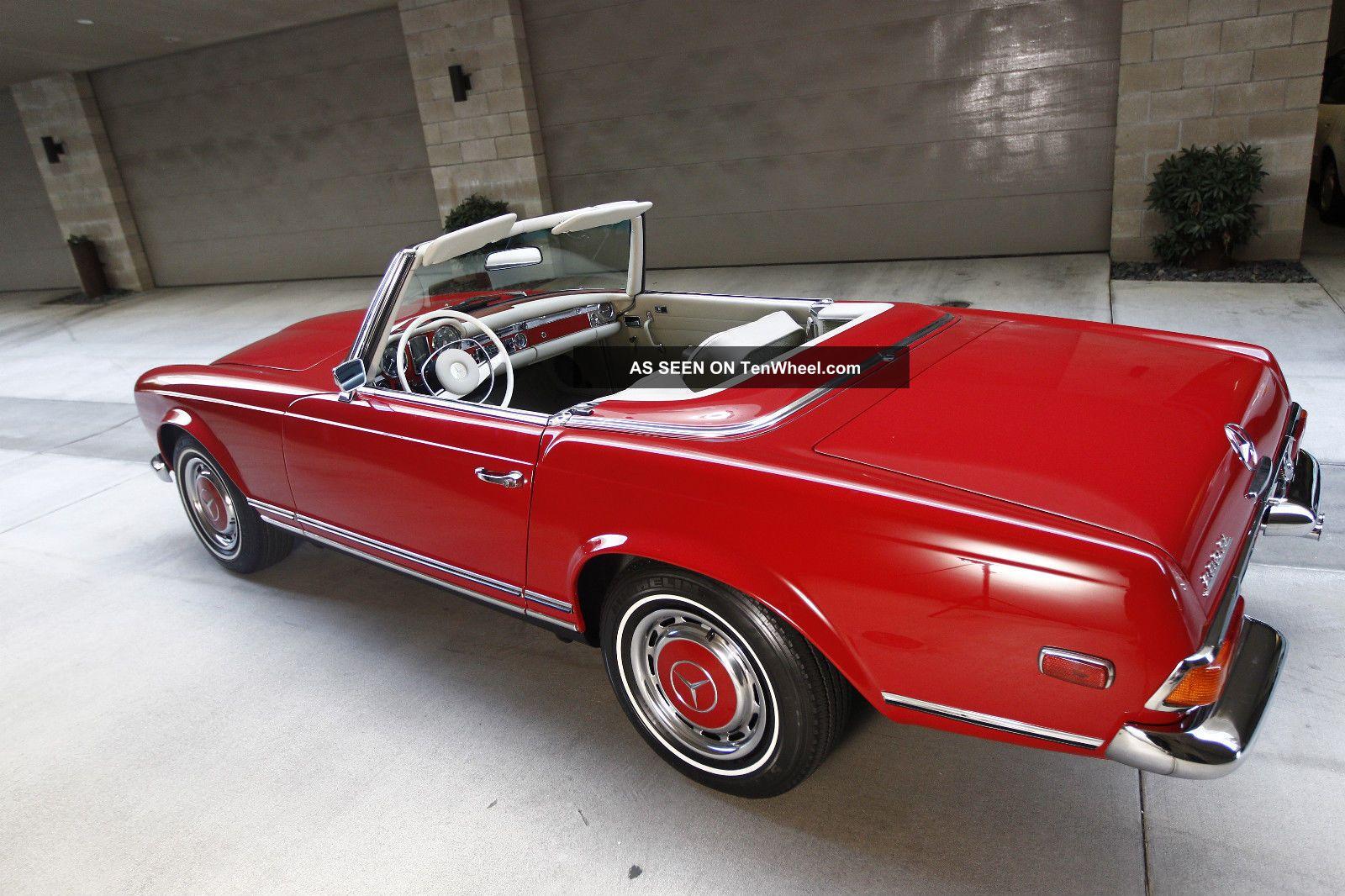 1969 mercedes benz pagoda 280sl 280 sl convertible coupe. Black Bedroom Furniture Sets. Home Design Ideas