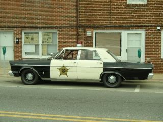 1965 Ford Galaxie 500 Andy Griffith Mayberry Sheriff Patrol Police Car photo