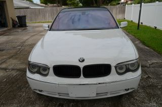 2005 Bmw 745 Li - 79000 Mile,  White & Beige Interior photo