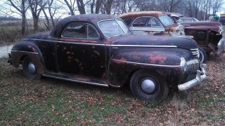 1941 Desoto 3 - Window Business Coupe - Rare - Barn Find - Great Patina photo