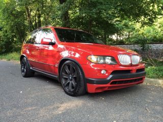 2004 Bmw X5 4.  8is - Imola Red Cargo Sliding Tray Pano Navi Truck photo