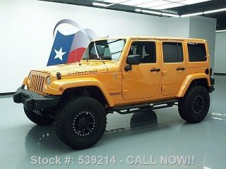 2013 Jeep Wrangler Unltd Rubicon 4x4 Haqrd Top Auto 11k Texas Direct Auto photo
