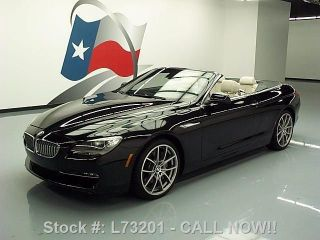 2012 Bmw 650i Cabriolet Climate Seats 11k Texas Direct Auto photo