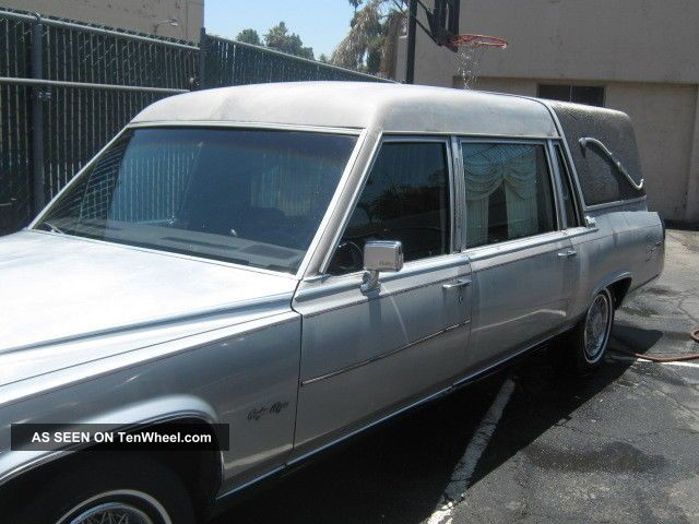 1987 Gray Cadillac Hearse 5.  0liter Brougham D ' Elegance Concours Eureka Hearse Other photo