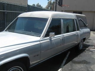1987 Gray Cadillac Hearse 5.  0liter Brougham D ' Elegance Concours Eureka Hearse photo