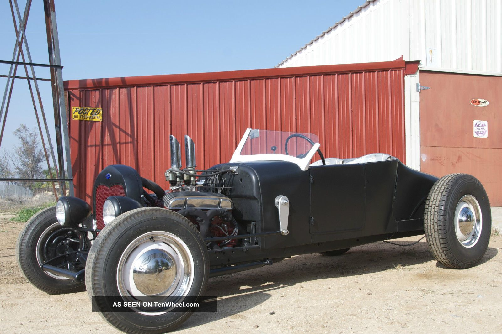 1927 Ford Roadster On 1928 Rails Traditional Hot Rod