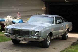 1971 Chevy Monte Carlo,  Silver,  Big Block,  402,  Turbo 400,  No Rust,  Matching ' S photo