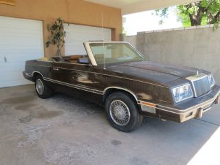 1982 Chrysler Lebaron Base Convertible 2 - Door 2.  6l photo