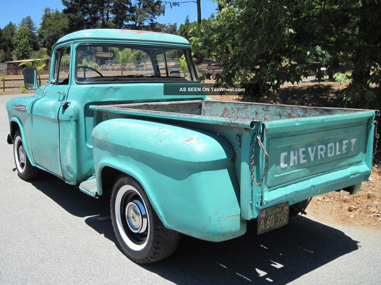 Chevy Shortbed Big Window Og Patina Ca Survivor Lgw on 1955 235 Chevy Engine Specs