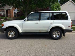 White 1997 Toyota Land Cruiser Base Sport Utility 4 - Door 4.  5l photo