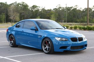 2012 Bmw M3 E92 6mt Individual Laguna Seca Blue Paint And Rust Brown Interior photo