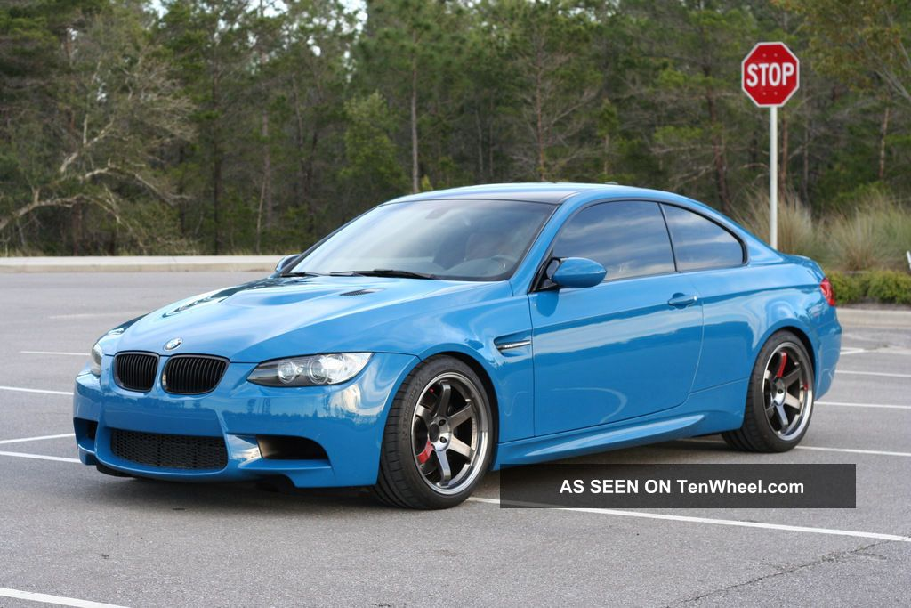 2012 Bmw M3 E92 6mt Individual Laguna Seca Blue Paint And