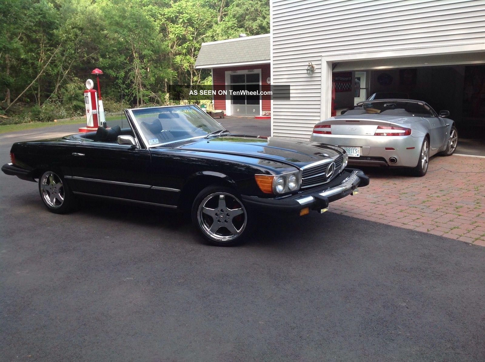 1976 mercedes benz sl 450 2 door convertible roadster for Black convertible mercedes benz